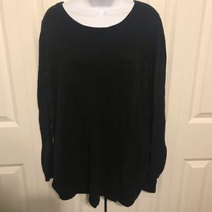 Black sweater with high slits